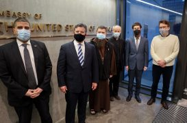 The US ambassador to Iceland meets with the Executive Director of the Islamic Endowment for Iceland and a number of representatives of religious groups