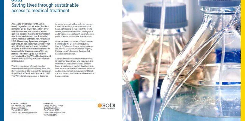 Sustainable access to treatment is one of Sobi's guiding principles in Jordan and worldwide.